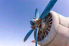 Propeller och motor av det gamla flygplanet Royaltyfri Bild