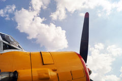 Propeller of old airplane Royalty Free Stock Photo