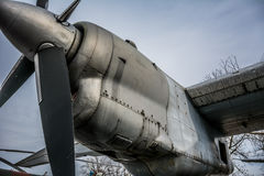 Propeller of old airplane Royalty Free Stock Images