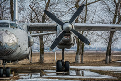 Propeller old airplane Stock Image