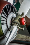 The propeller of an old sports plane Royalty Free Stock Images
