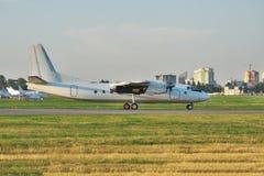 Propeller passenger plane Royalty Free Stock Image