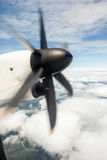 An propeller from an plaina Royalty Free Stock Images