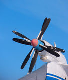 Propeller of plane Stock Images