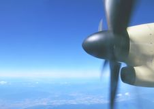 Propeller on plane Stock Images