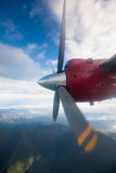 Propeller plane in air Royalty Free Stock Images