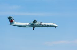 Propeller Plane from Air Canada Express Stock Image