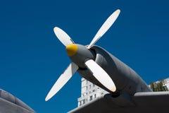 The propeller of the plane Stock Photos