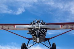 Propeller plane with blue sky Stock Photos