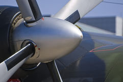 Propeller of a plane in detail Stock Photography