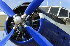 Propeller plane engine Stock Images