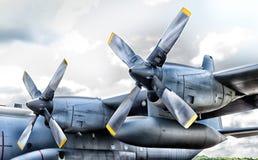 Propeller plane Royalty Free Stock Photo
