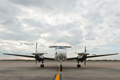 Propeller plane parking at airport Royalty Free Stock Photography