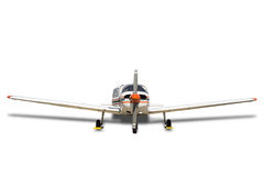 Propeller plane on white. Royalty Free Stock Photography