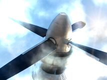 Propeller   planer Royalty Free Stock Photo