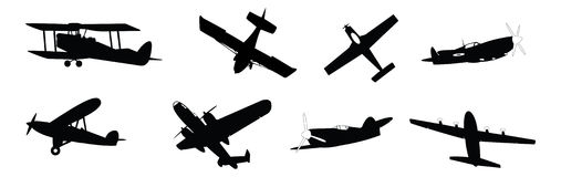 Propeller planes Stock Photo