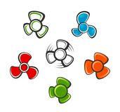Propeller set. On a white background royalty free illustration