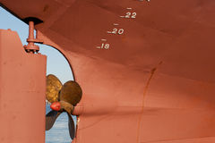 The propeller of a ship Royalty Free Stock Photography