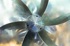 Propeller of a ship. Propeller of a new ship Royalty Free Stock Images