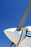 Propeller of small plane stock images
