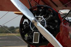 Propeller of small plane. A propeller of a small plane stock photo