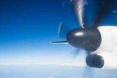 Propeller tijdens de vlucht stock foto's