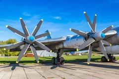 Propeller of Tupolev Tu-95 stock image