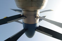 Propeller turbine. Close-up of a twin propeller turbine royalty free stock photography