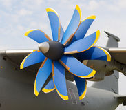 Propeller turboprop aircraft Stock Photos