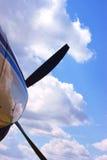 Propeller und Wolken Stockbild