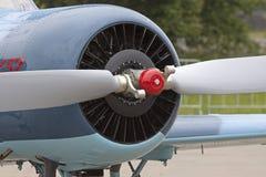 Propeller van oud uitstekend vliegtuig Royalty-vrije Stock Afbeeldingen