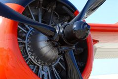 The propeller of a world war II airplane Royalty Free Stock Image
