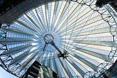 Propellerblade roof postdamer platz berlin germany Stock Photography