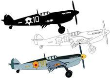 Propellerkämpenivå från världskrig II Royaltyfri Fotografi