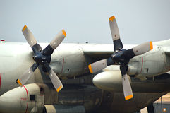 Propellers of C-130 Hercules. Close up of Propellers of C-130 Hercules in Chiangmai, Thailand Stock Image