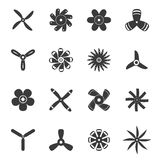 Propellers or funs icons set Royalty Free Stock Photos
