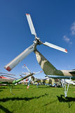 Propellers helicopter against the sky Stock Photography