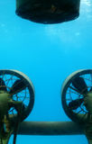 Propellers of submarine Stock Photography