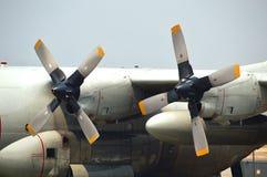 Propellers van c-130 Hercules Stock Afbeelding