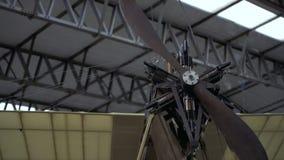 Propellers van het Wright-broersvliegtuig, Wright Flyer stock video