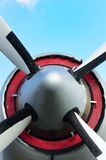 Propellor of aircraft from front Stock Images