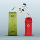 Proper battery disposal Royalty Free Stock Photos