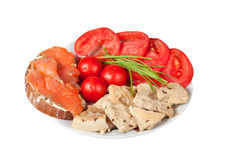 Proper nutrition for athletes  on white with clipping pa Stock Image