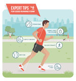 Proper running form Stock Images