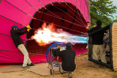 Proper training to fly a balloon Stock Photography