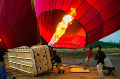 Proper training to fly a balloon Stock Images