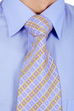 Properly tied business tie Royalty Free Stock Image