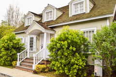 Properties on Colonial Street Royalty Free Stock Photos
