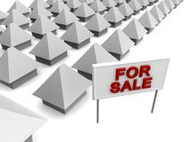 Properties For Sale. 3d rendered illustration Royalty Free Stock Photo