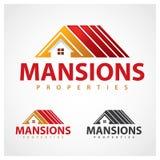 Properties Symbol. Mansions properties logo design template Stock Image